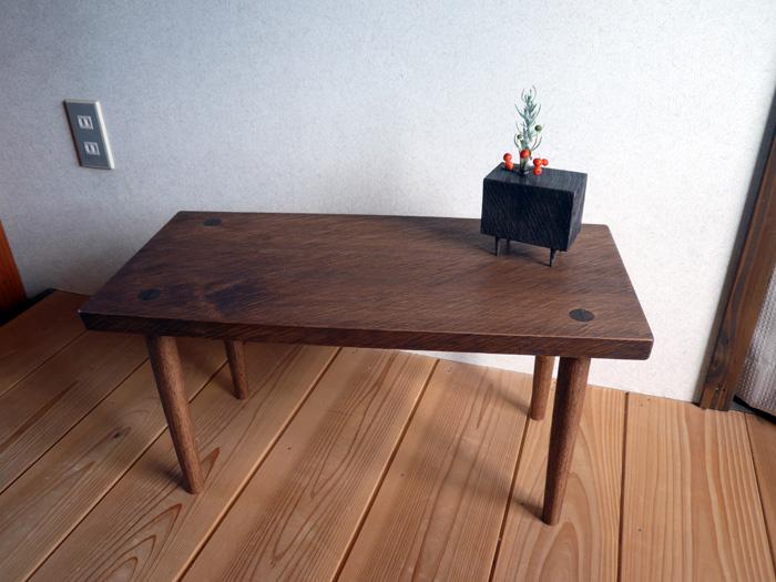 オニグルミのローテーブル 弘前