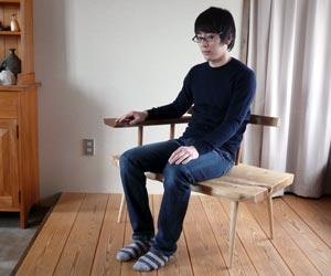 栓の椅子 普通に座る